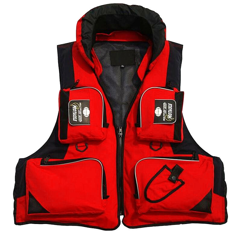 5 Color Fishing Jackets Life Vest For Mens Fish Clothing Outdoor Hunting Fishing Vest Fly Fishing Vest Size L-XXL