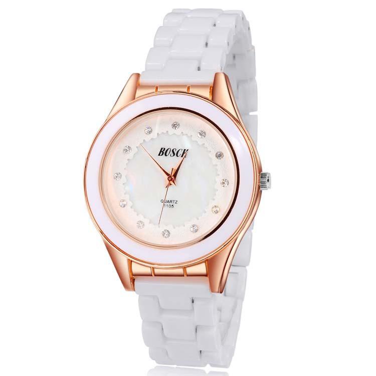 Hollow Out Dial Ceramic Watch Bosck  Womens Fashion Watches Top Brand Japan Movt Quartz Rhinestone Wrist watch relogio feminino<br><br>Aliexpress