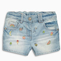 Baby Girl Shorts Menina 2017 Summer Brand Children Trousers Kids Shorts Jeans Character Embroidered Fashion Girls