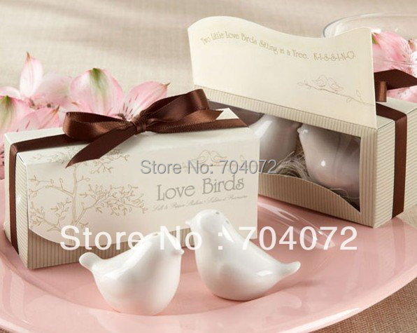 2015 Sale Decoration Wedding Favors And Gifts Wholsesale 5 Sets=10 Pcs Newest Wedding Favors, Love Bird Salt Pepper Shaker Gift(China (Mainland))