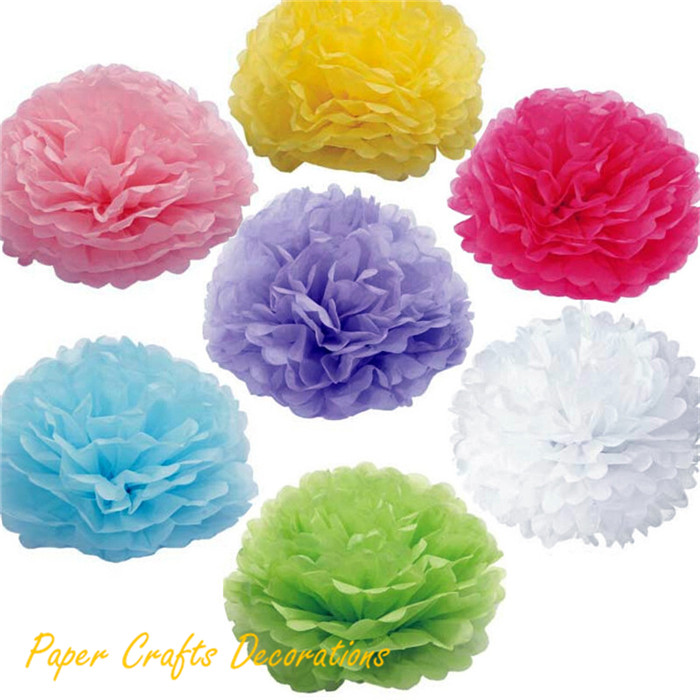34 Colors 6inch (15cm) Haning Tissue Paper Flower Pompoms Rose Balls Baby Shower Wedding Party Decorations(China (Mainland))