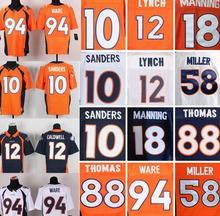 94 DEMARCUS WARE 12 Paxton Lynch 18 Peyton Manning 58 Von Miller 10 Emmanuel Sanders Elite 100% Stitched Elite Jersey(China (Mainland))