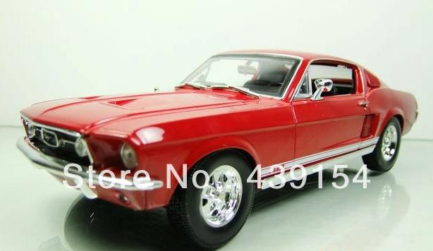 1967 Shelby G.T.500 1:18 metal/resin/rubber ford mustang GTA car models Children's toys with free shipping(China (Mainland))