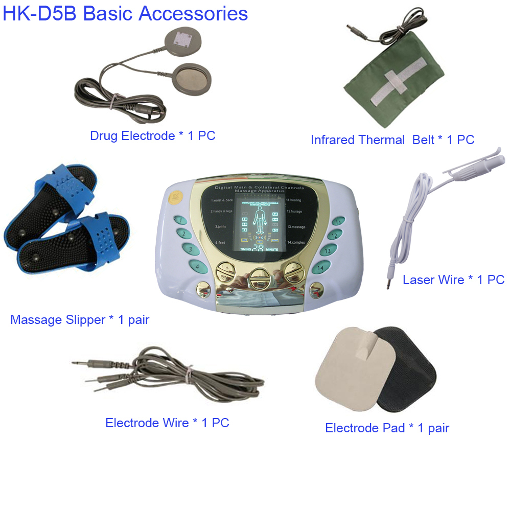 2015 hot sale Digital Low Frequency Therapeutic Electrical Muscle Stimulator Tens Massager With LCD Screen Machine Home Using(China (Mainland))