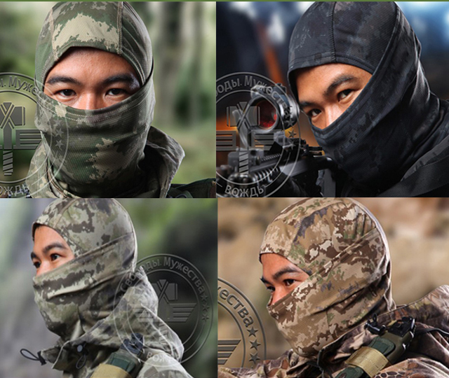 Tactical Airsoft Hunting Wargame Breathing Dustproof Full Face Balaclava Mask Camo(China (Mainland))