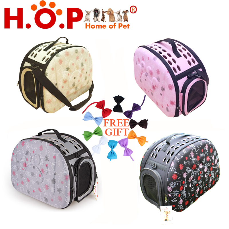 Free Shipping Pet EVA Folding Carrier Cat Dog Traveling Bag Small Dog Flight Case Pet Carrier(China (Mainland))