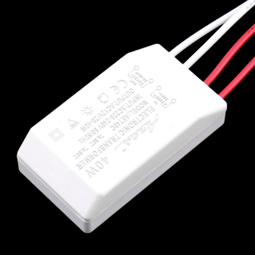 1pc 40W 12V Halogen LED Lamp Electronic Transformer Power Supply Driver Adapter Hot Worldwide
