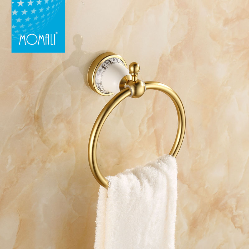 Decorating bathroom towels promotion shop for promotional for Blue and gold bathroom accessories