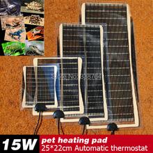 Vendita caldo 15 w 25*22 cm armer bed mat pad anfibi temperatura regolabile pet rettile riscaldamento riscaldatore cane caldo strumento per la vendita  (China (Mainland))
