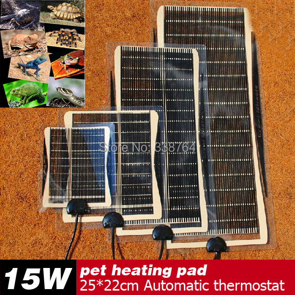 Hot Selling 15W 25*22CM Armer Bed Mat Pad Amphibians Adjustable Temperature Pet Reptile Heating Heater Dog Warm Tool For Sale(China (Mainland))