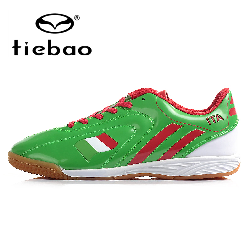 TIEBAO Professional Indoor Soccer Shoes Men Women Athletic Training Shoes IN & IC Rubber Sole Football Boots chuteira futsal(China (Mainland))
