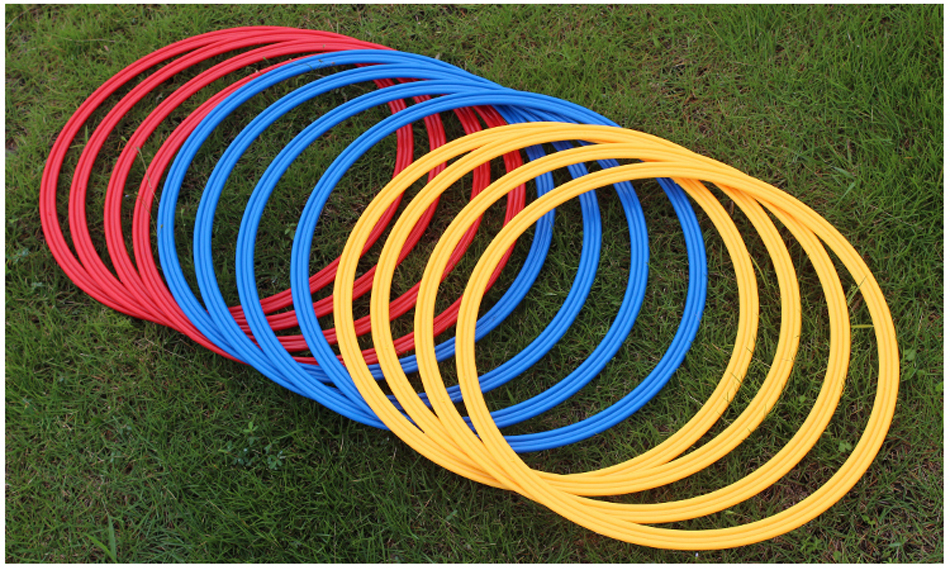 12 Pcs /Set 40cm Soccer Speed Agility Rings ABS Material Sensitive Football Equipment Training Pace Lap Football Training Equip(China (Mainland))