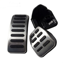 Buy Newest Stainless Steel Gas Brake Pedal MT/AT Pedal Seat Ibiza 6K 6L 6J/Skoda Fabia II/VW Polo 9N 6R Bora Golf MK4 IV for $9.19 in AliExpress store