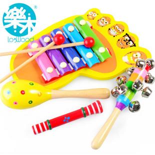 Baby toy xylophone hand knocking piano marabouts whistle handbarrows 4 violin
