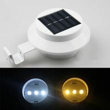 Solar 3 LED Light Gutter Fence Patio Corridor Lamp Outdoor Garden Light(China (Mainland))
