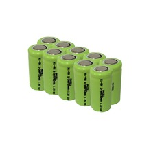 10Pcs 1.2v 2/3aa 750mah rechargeable NIMH battery in flat top, non PCM, in industrial pvc packing(China (Mainland))