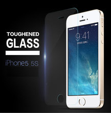 Super High Quality Hot 0.26mm Tempered Glass Screen Protector for iPhone 5 5s Protective Film Ultra Thin Rounded Edge