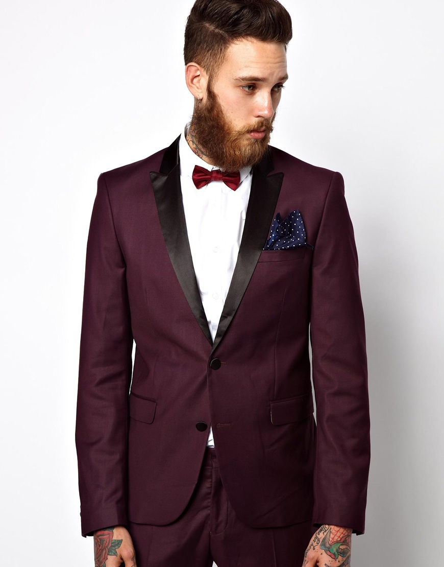 Burgundy Black Tuxedo Promotion-Shop for Promotional Burgundy