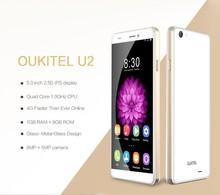 OUKITEL U2 Smartphone Double Glass 4G LTE MTK6735 64bit Quad Core 5 0 Inch IPS 1GB