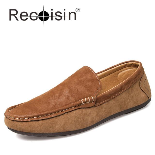 RECOISIN Мода Британский Стиль мужские Мокасины Отдыха Повседневная Мужчины Обувь ...