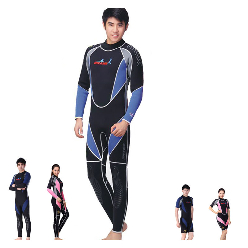 Wetsuits Mens and Womens Reactor 3/1.5mm Neoprene Full Suit / Short Suit Back or Front Zipper  Wetsuit<br><br>Aliexpress