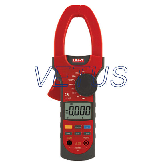 Фотография UNI-T UT207 LCD Digital  AC DC Clamp meter Clip-on multimeter with TRUE RMS