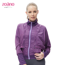 ZOANO Sport Coats Fashion Casual Running Jacket Women Spring/Autumn Fitness Running 2 in 1 Pieces Sport Suits For Women,FC42145(China (Mainland))