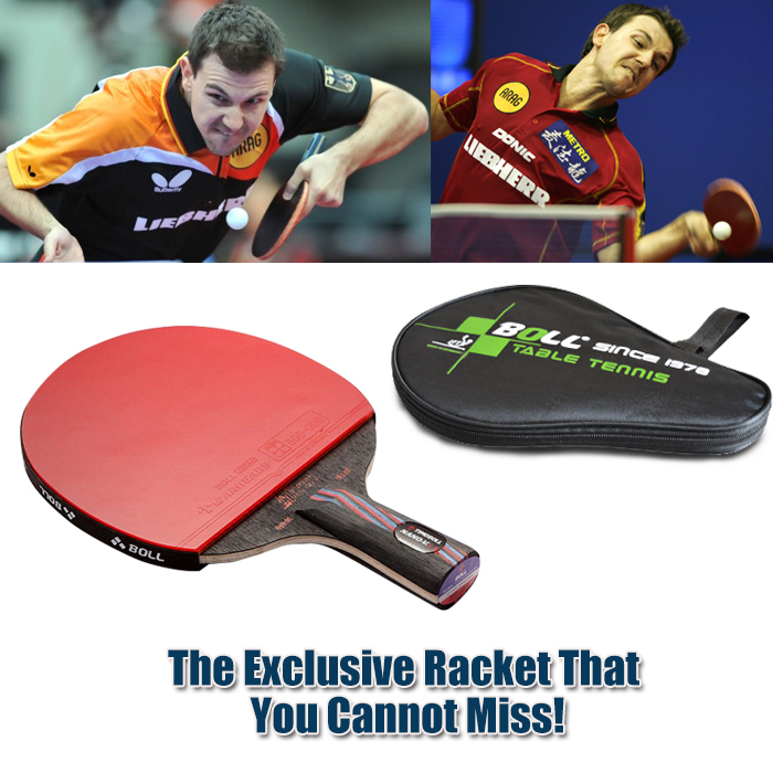 1x Brand quality Carbon Fiber Table tennis racket Blade with double face Pimples-in Racket rubber bat Timo Boll NANO-V with bag(China (Mainland))