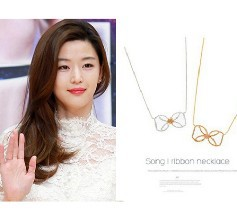 You thousand Iraqi hyun Song Korean stars from the same paragraph alloy butterfly knot necklace jewelry free shipping(China (Mainland))