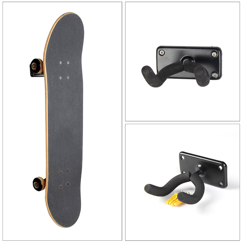 Durable Wall Mount Skateboard Deck Display Wall Mount Horizontal Hanger Rack Stable and Sturdy