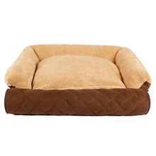 Fast Shipping Super Soft  3 Using way for Pet Sofa Pure Color Detachable  Puppy Cat Dog Beds 2 Size Pet Supplies