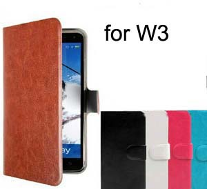Hot Sell Original PU Leather Flip Cover Case For THL W3 Cell Phones Holster +Touch Pen Gift(China (Mainland))