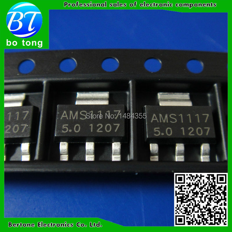 Free Shipping 100PCS/LOT Original AMS1117-5.0V AMS1117-5.0V AMS1117 LM1117 1117 Voltage Regulator We only provide good quality