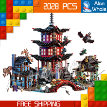 202Bela 10427 Temple Airjitzu Building Blocks Ninja Minifigure Model Bricks Best Large Gifts Toys Compatible Lego - Last Canvas store