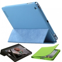 Classic Fullbody Slim Magnetic PU Leather Stand Smart Case Cover for iPad 4 iPad 3 iPad 2 Case Cover (9 Colors Option)