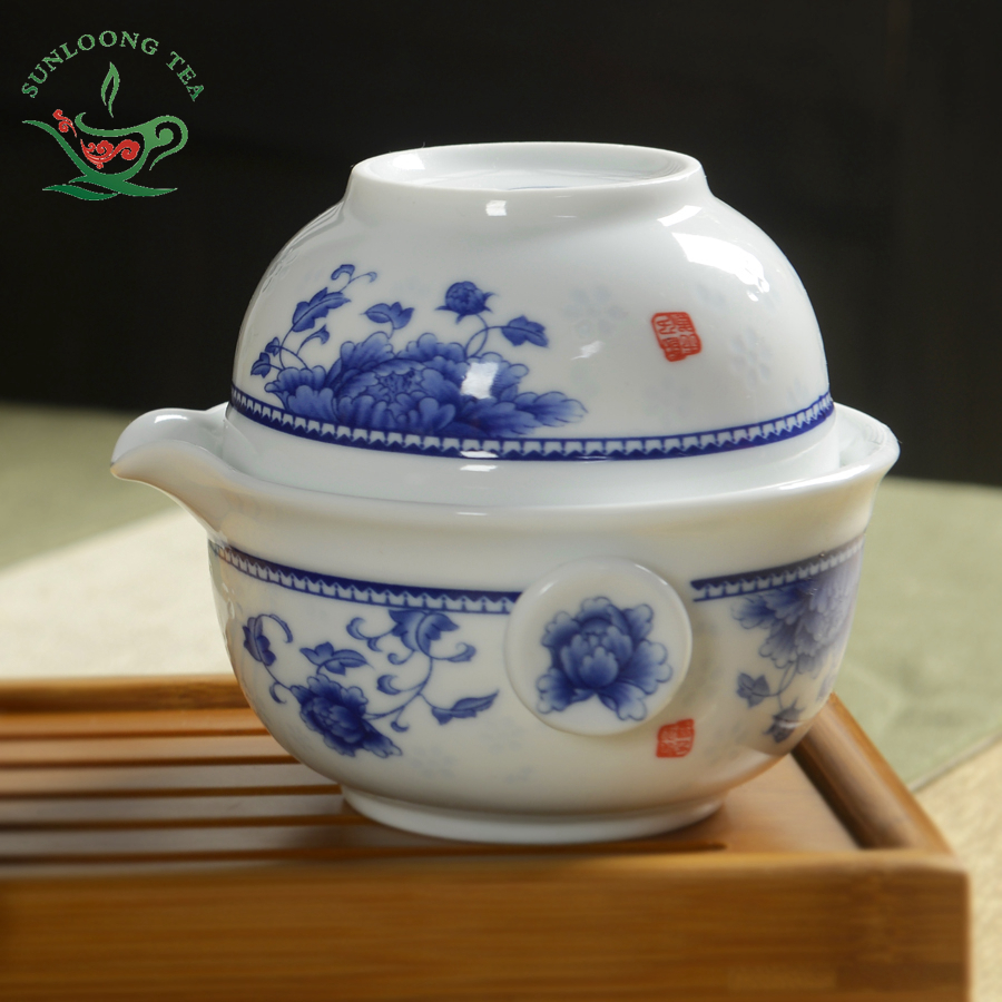 3 pieces Chinese tea cup Tea set Include 1 Pot 1 Cup High quality elegant gaiwan
