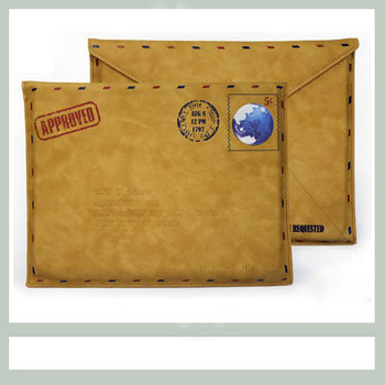"""Top  quality Retro Leather Envelope Case Bag Pouch For 13.3"""" Macbook AIR/PRO Free Shipping"""