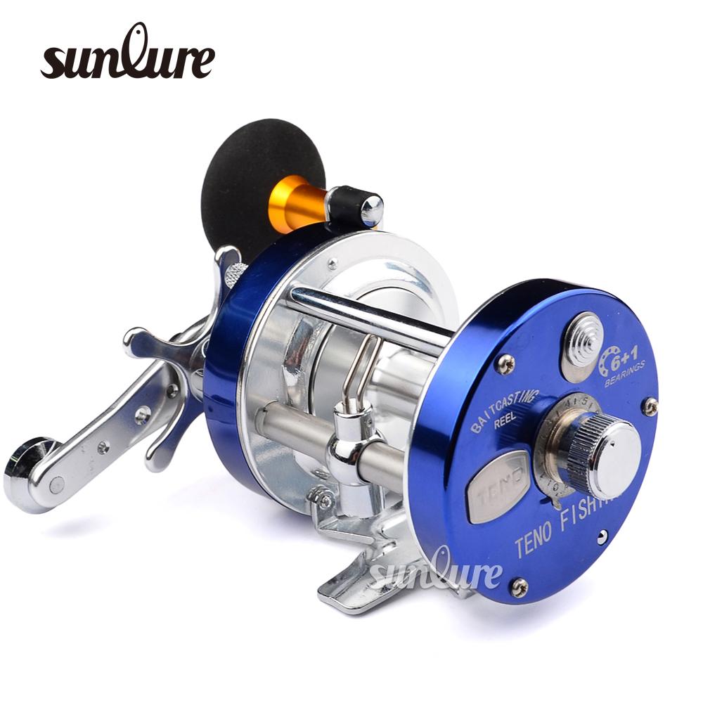 Sunlure 7bb fishing reel 3 color boat al alloy body bait for Reel steel fishing