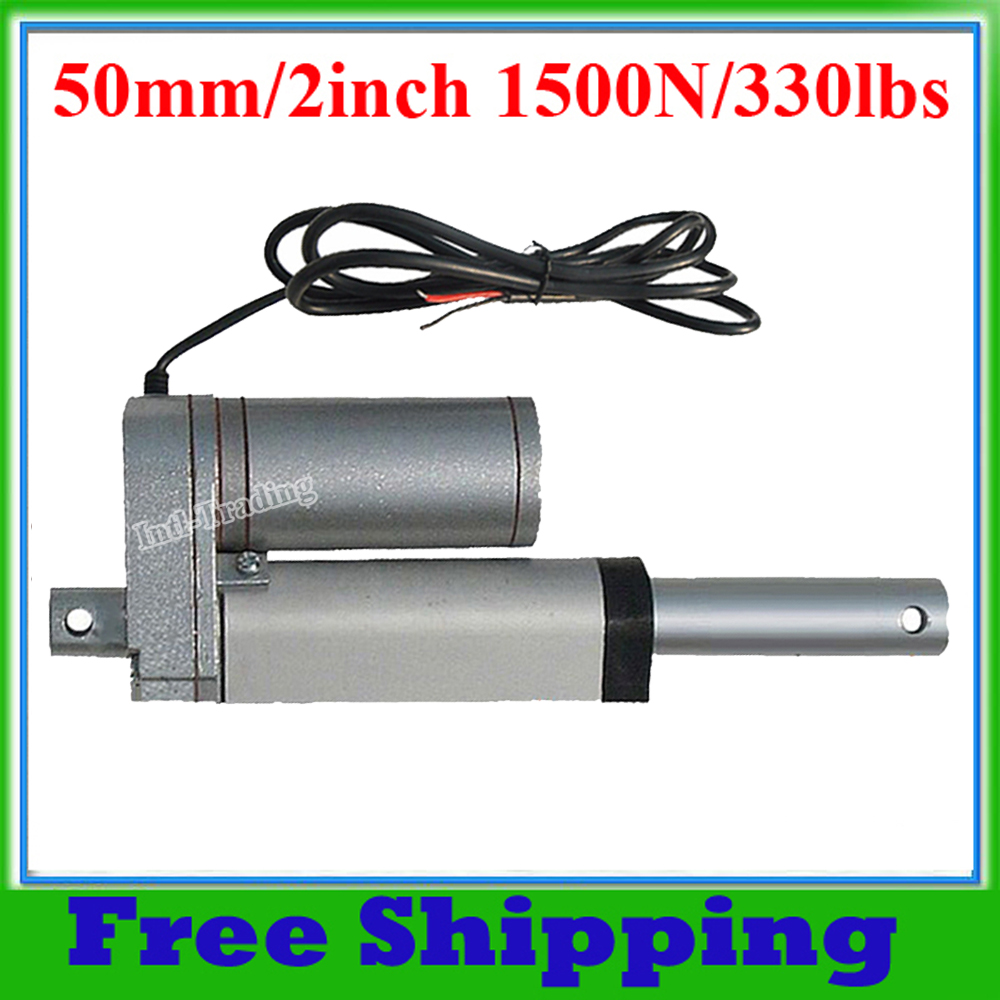 Multi-function 50mm/2inch Stroke DC 12V Heavy duty Motor 1500N/330lbs Max Lift Load Electric Linear Actuator(China (Mainland))