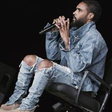 Fear of god broken hole damaged Distressed ripped lt blue jeans leg zipper Kanye west men denim pants(China (Mainland))