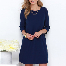 Buy 2016 Stylish Women Lady Casual Chiffon Cocktail Party Mini Dress S/M/L/XL B4 B3 for $5.81 in AliExpress store