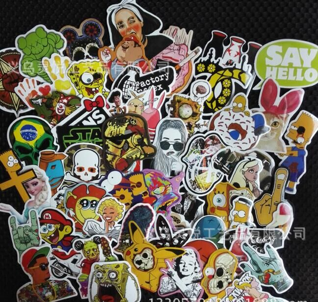 10PCS car motorcycle sticker Random mix For VW Polo Ford Kuga Chevrolet Cruze Peugeot Toyota Rav4/Corolla Opel Mokk(China (Mainland))