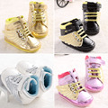New Fashion Lovely PU Leather Baby Boys Prewalker Shoes Infant Toddler Angel Wings Babe Crib First