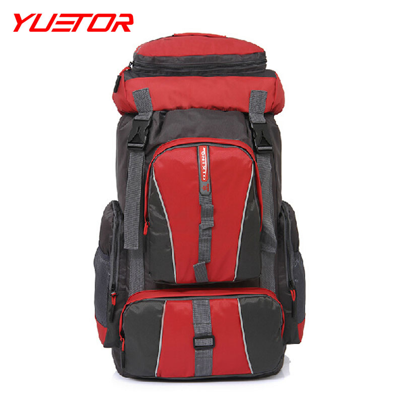 BRAND YUETOR  promotion 50L sports outdoor climbing  men and women professional  travel bags waterproof backpack hiking bag