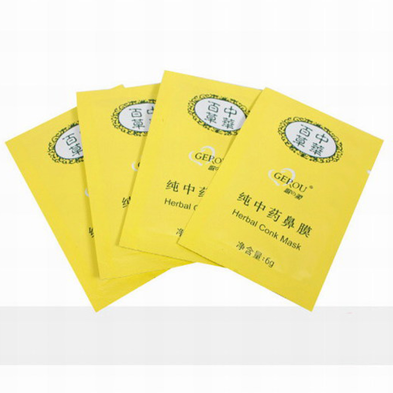 10pcs Herbal Clean Remover Nose Pore Mask Blackheads Face Care Black Mask(China (Mainland))