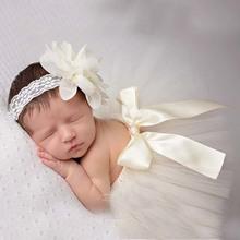 Newborn Baby Girls Tulle Tutu Skirt & Flower Headband Toddler Photography Prop Costume Princess Headdress 1set TS020(China (Mainland))