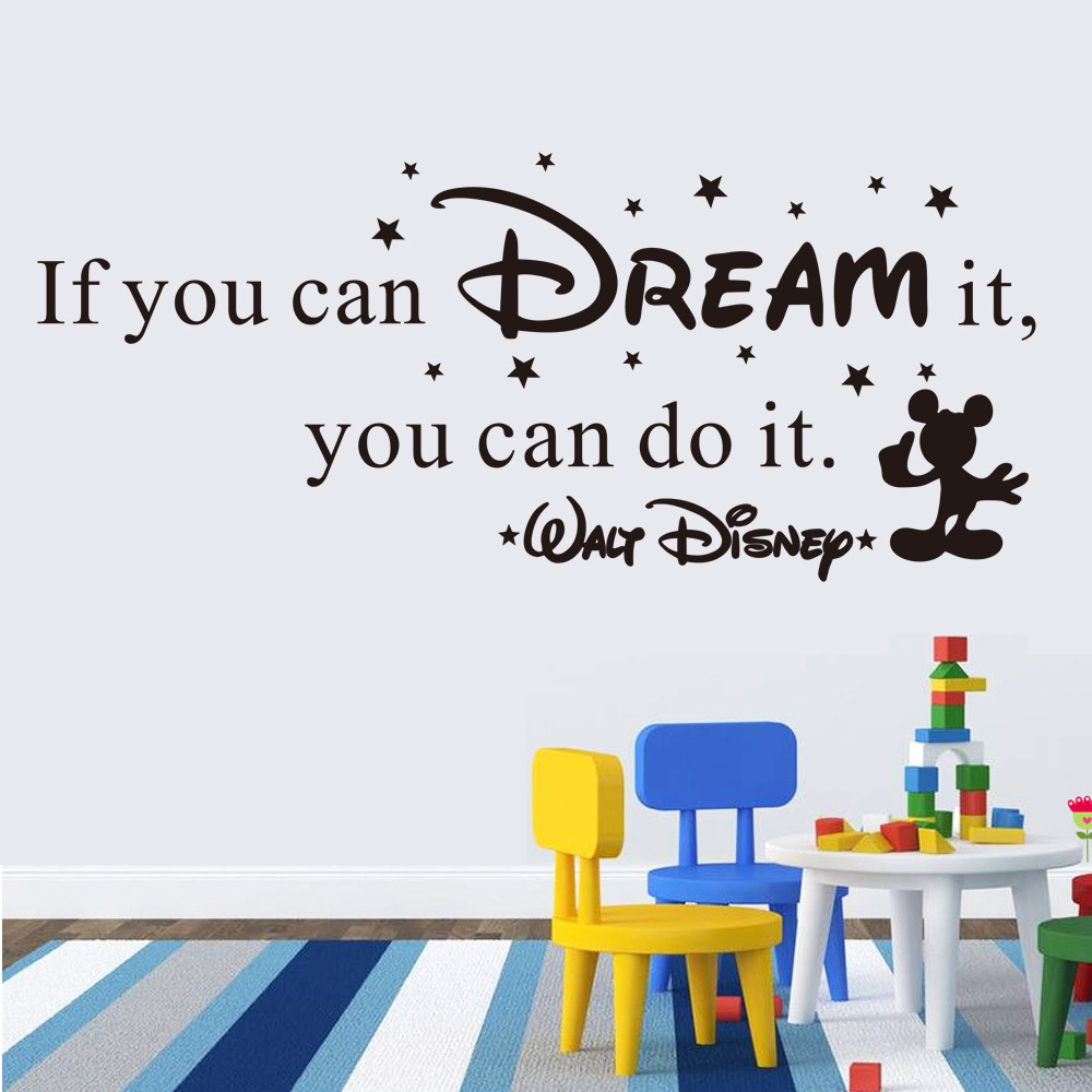 Quot If You Can Dream It Quot Inspiration Quotes Wall Stickers