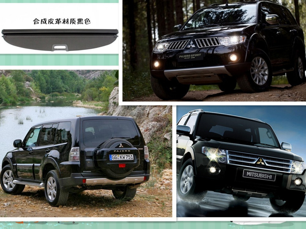 High-Q!Rear Trunk Security Shield Cargo Cover trunk shade security cover for Mitsubishi Pajero V97/V73/V93 2001-2014.2015