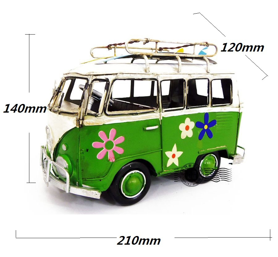 Classic Bus Sheet Iron Model for Kids Creative Gifts Toys in Vintage Style Metal Crafts or for Decorat(China (Mainland))