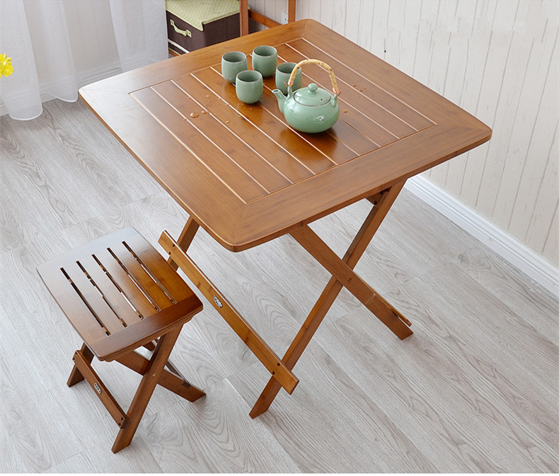 Bamboo Square Table: Bamboo Furniture Dining Table Square 80cm Outdoor/Indoor